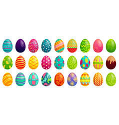 easter eggs spring colorful chocolate egg cute vector image