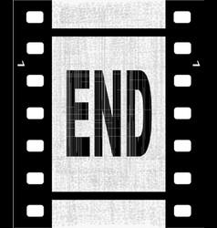 End film strip vector
