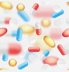 falling pills seamless pattern vector image