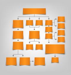 Flow chart organization plan in orange design vector
