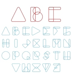 Font ABC in geometric style vector