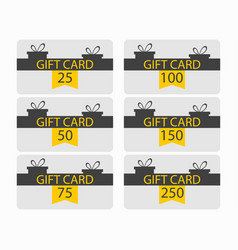 gift card with gift box and ribbon black vector image