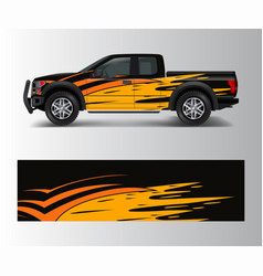 Graphic abstract grunge stripe designs for truck vector