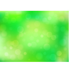 green abstract bokeh background vector image
