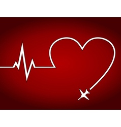 Heart the plane vector image