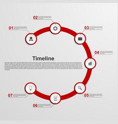 Infographics timeline concept vector