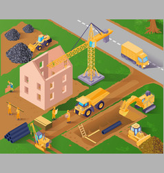 Isometric construction vector