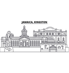 jamaica kingston line skyline vector image