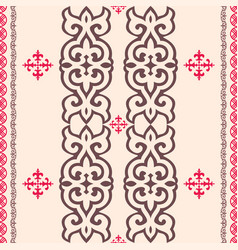 Kazakh nomadic tribes on background vector