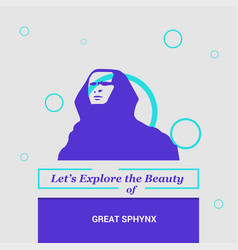 Lets explore the beauty of great sphynx giza vector