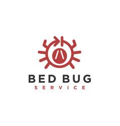 Logo repellent flea pillow bed mattress bed bug vector