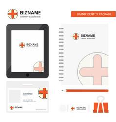 medical business logo tab app diary pvc employee vector image