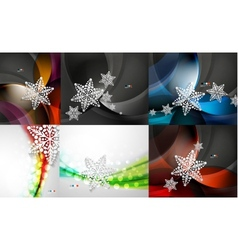 Mega collection of Christmas waves vector image
