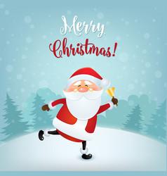 merry christmas greeting card christmas and new vector image