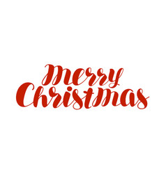 merry christmas text xmas holiday symbol hand vector image