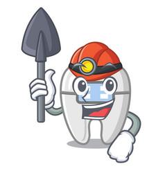Miner braces in a cartoon shape vector