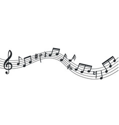 music note wave notes background musical poster vector image
