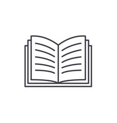 open book line icon concept open book vector image