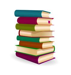 Pile folded books vector