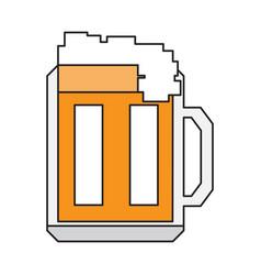 pixelated beer mug vector image
