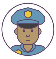 policeman avatar policeman in cap icon policeman vector image