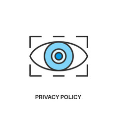 Privacy policy icon vector