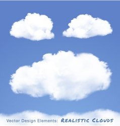 Realistic Clouds on blue sky vector