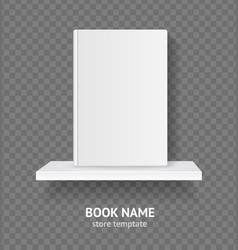 Realistic detailed 3d white blank template book on vector