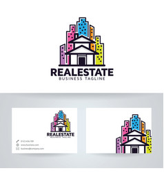 Retro real estate logo design vector