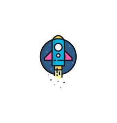 rocket logo template rocket logo concept vector image
