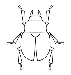 Scarab beetle icon outline style vector