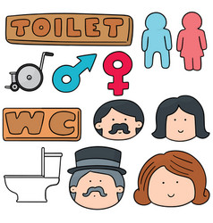 set of toilet sign vector image