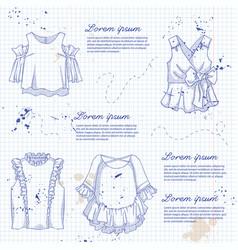 set woman casual clothes vector image