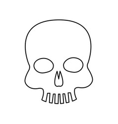 skull piracy virus technology concept vector image