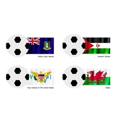 Soccer Ball of Virgin Islands Western Sahara vector image
