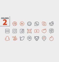 Social media ui pixel perfect well-crafted vector
