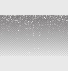 stock falling snow many small vector image