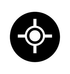 Target gun isolated icon vector