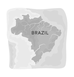 Territory of Brazil icon in monochrome style vector image