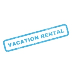 Vacation Rental Rubber Stamp vector