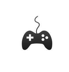 video game controller icon isolated on white vector image