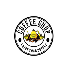 vintage coffee shop logo designs inspiration vector image