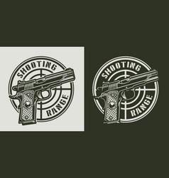 Vintage monochrome military print vector