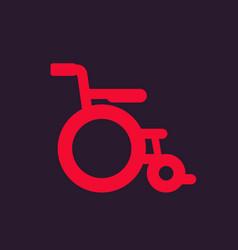 wheelchair icon sign vector image