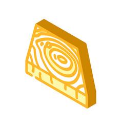 Wooden floor isometric icon vector