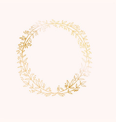 wreath border frame wedding marriage event vector image