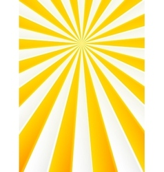 Yellow and white rays abstract circus poster vector image