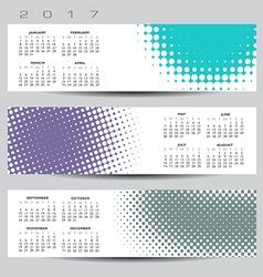 2017 calendar Dot banners vector image