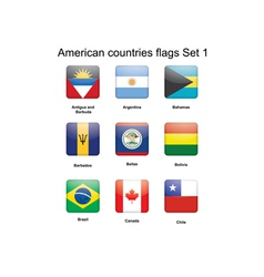 American countries flags Set 1 vector image vector image