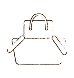 sketch draw basket shopping bag gift online vector image